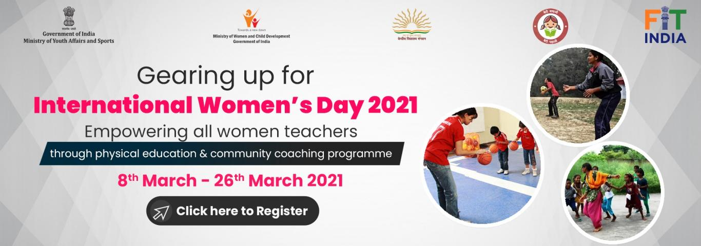 Fit India Movement: Empowering women PE Teachers and Community/Sports coaches in the field of Physical Education